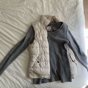 Gray wool sweater